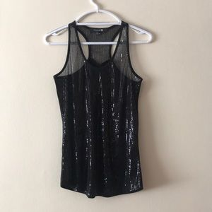 Forever 21 Sequins Tank Top Size S